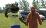 Our Frogster Making Friends With Big Foot For Our Big Foot Weekend
